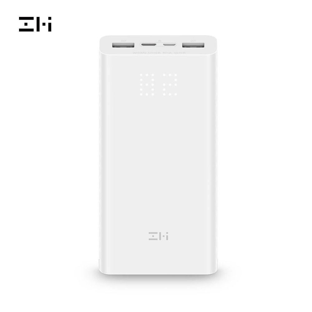 ZMI Power Bank QB821 20000mAh Power Digital Display 18w QC3.0 Fast Charging Dual USB 20000 mAh Powerbank for Smartphone