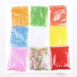 SOLEDI 2000PCS Polystyrene Styrofoam Plastic Foam Mini Beads Ball DIY Assorted Colors Decorate Event Party Supplies Decoration