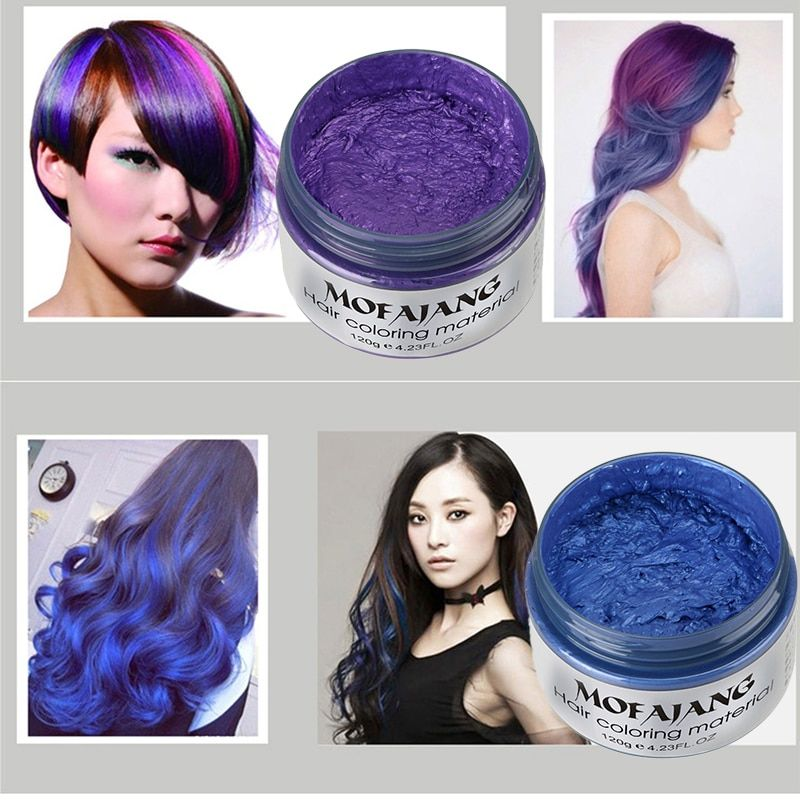 Y&W&F 7 Colors Anti-static Hair Styling Wax Sun Protection Not Greasy Temporary Modeling No Damage Easy To Wash Out Hair Cream