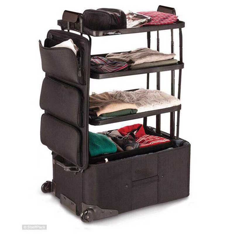 24 inch large capacity Rolling Luggage Spinner Multifunction unique design Three-tier space Trolley Suitcase Wheels Travel Bags