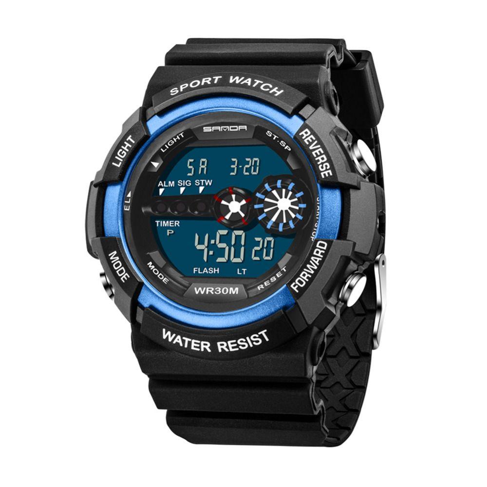 Nueva marca de fábrica superior 2107 digital wacth hombres reloj de los deportes para Correr Relogio masculino Relogio digital cronometro