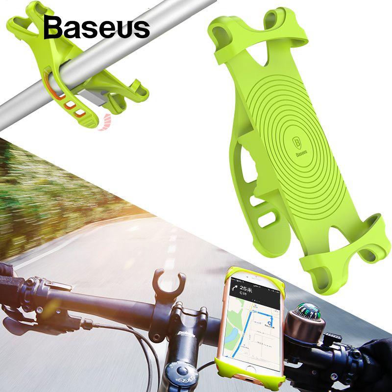 Baseus Bike Phone Holder For Smart Cell Mobile Phone Holder Bike Handlebar Mount Bracket GPS Stand Bicycle Phone Holder