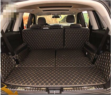 wholy surrounded covered dedicated car trunk mats for Mercedes GL 500 7seats X164 2012-2006 waterproof boot carpets