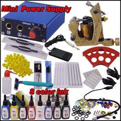 1 mesin untuk tattoo starter kit permanen makeup body piercing gun kit profesional kit tato mesin kit
