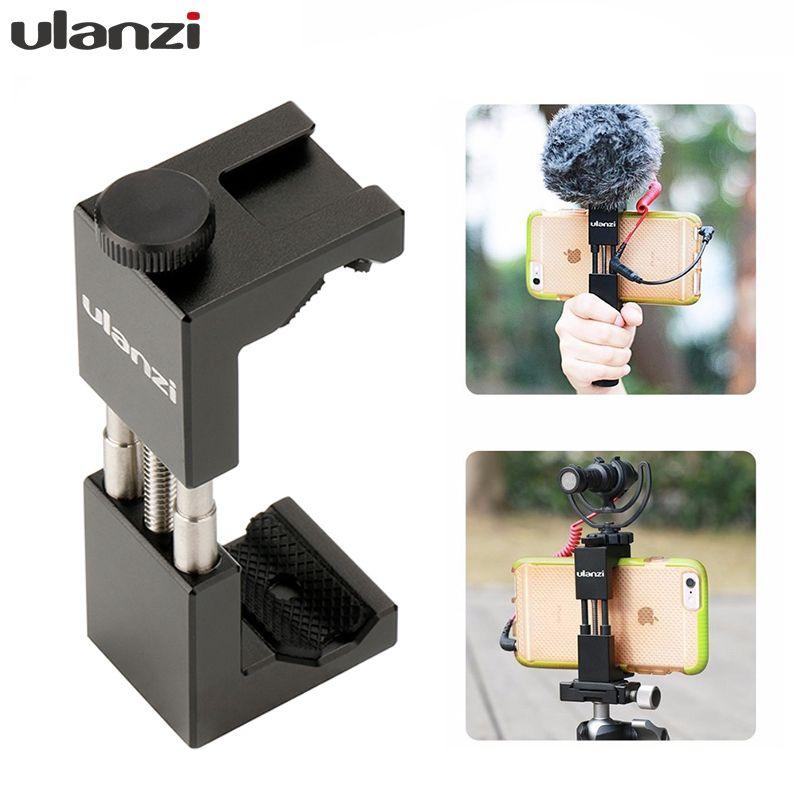 Ulanzi ST-02 support de trépied de téléphone portable w chaussure chaude Compatible AL-M9/Boya BY-MM1 Microphone pour Youtube Vlog vidéaste