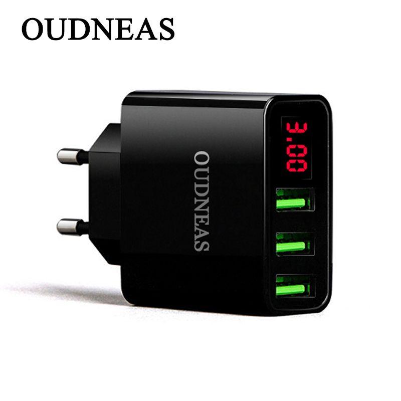OUDNEAS Portable Voyage Mur 3 USB Mobile Téléphone Chargeur UE Plug pour iPhone Samsung le Max 3.1A Téléphone portable Charge Rapide Adaptateur