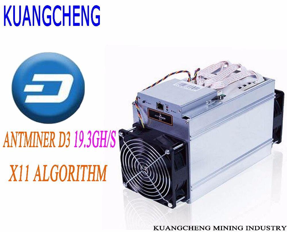 KUANGCHENG Mining industry DASH MIJNWERKER ANTMINER D3 19.3GH/s 1200 W BITMAIN X11 dash mijnbouwmachine kan miner BTC op nicehas