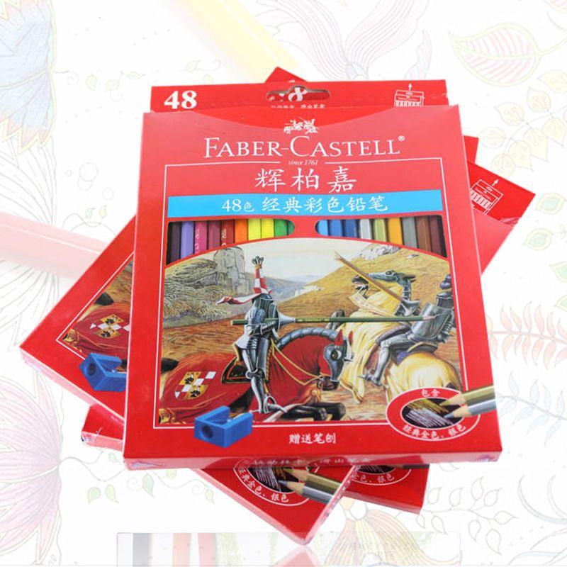 Faber Castell couleur marque Lapis De Cor professionnels artiste peinture huile couleur crayon ensemble pour dessin croquis Art fournitures