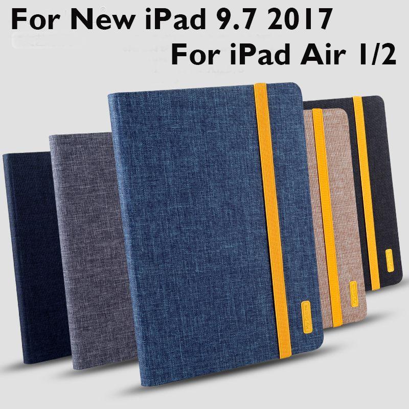 For iPad 9.7 2017 / 2018 Pro 9.7 Air 1 Air 2 Case Cover High Quality TPU+Cloth art Tablet Skin Protective Sleeve Wake up/sleep