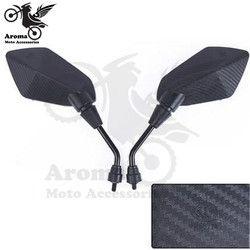 En fiber de carbone couleur universel 10mm 8mm motocross VTT Off-road dirt pit bike moto side mirror moto rétroviseur moto miroir