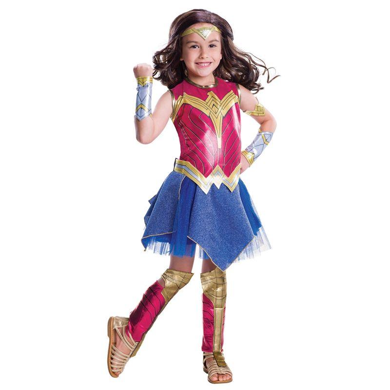 Amanecer De Justicia Wonder Woman Costume Deluxe Niño