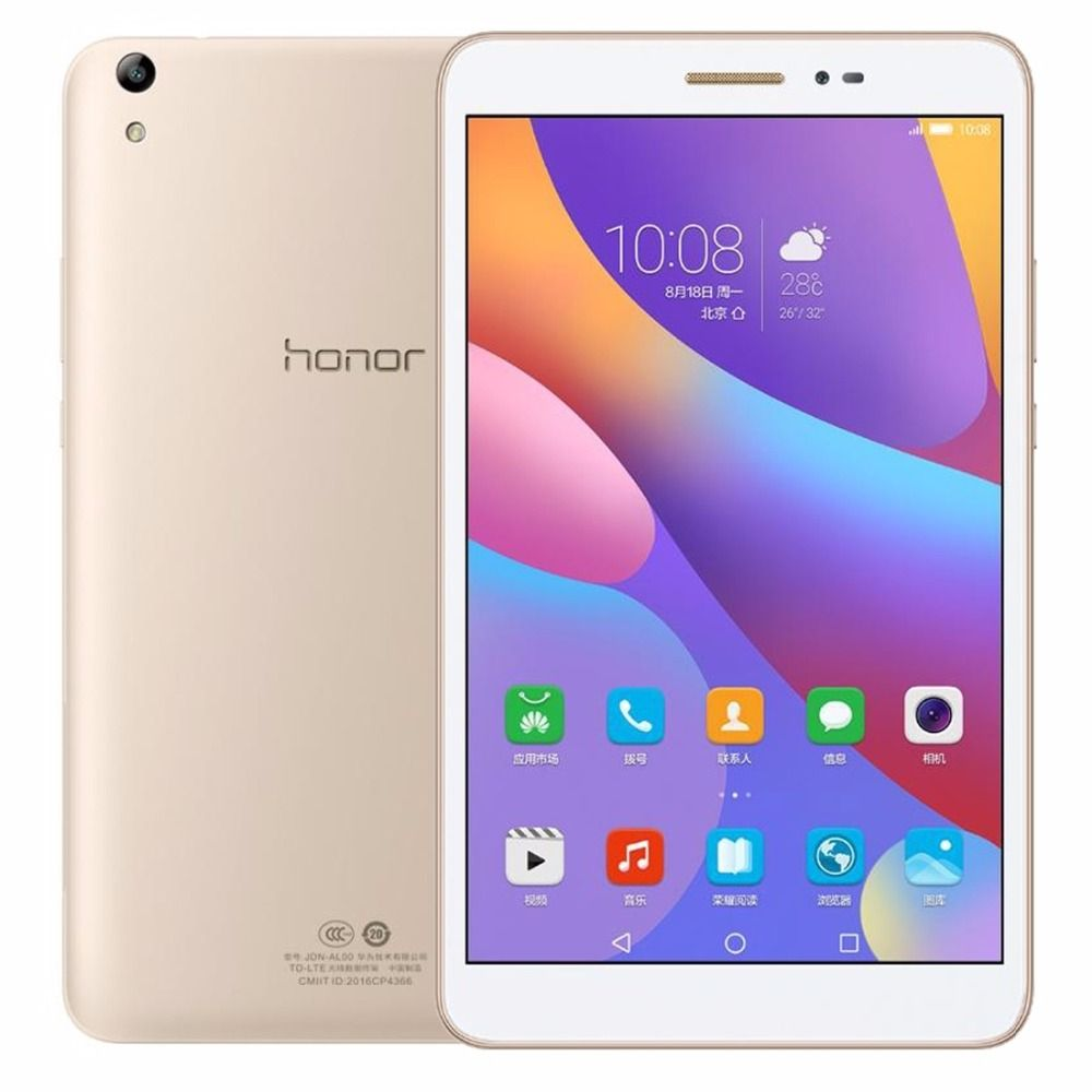 Original 8 pulgadas Huawei Honor Tablet 2 JDN-AL00 3 GB 32 GB EMUI 4.0 Qualcomm Snapdragon 616 Octa Core 4G Phone Call Tablets PC