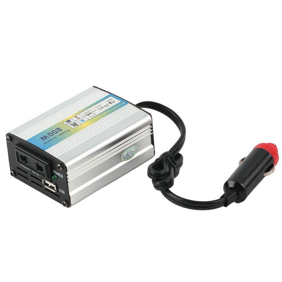 2017 1 шт. 12 В постоянного тока до 220 В Авто Мощность преобразователь адаптер 200 Вт USB горячая распродажа! для всех автомобилей горячее