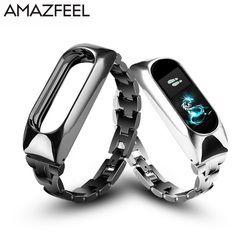 Metal correa para Xiao mi banda 2 pulsera de acero inoxidable sin tornillos para mi banda 2 wristbands reemplazar correa de muñeca