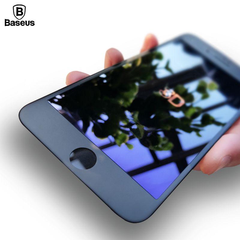 Baseus Premium 0.23mm Protecteur D'écran En Verre Trempé Pour iPhone 6 6 s 6 Plus 6 s Plus 3D Givré Arc Bord Pleine Couverture En Verre Film