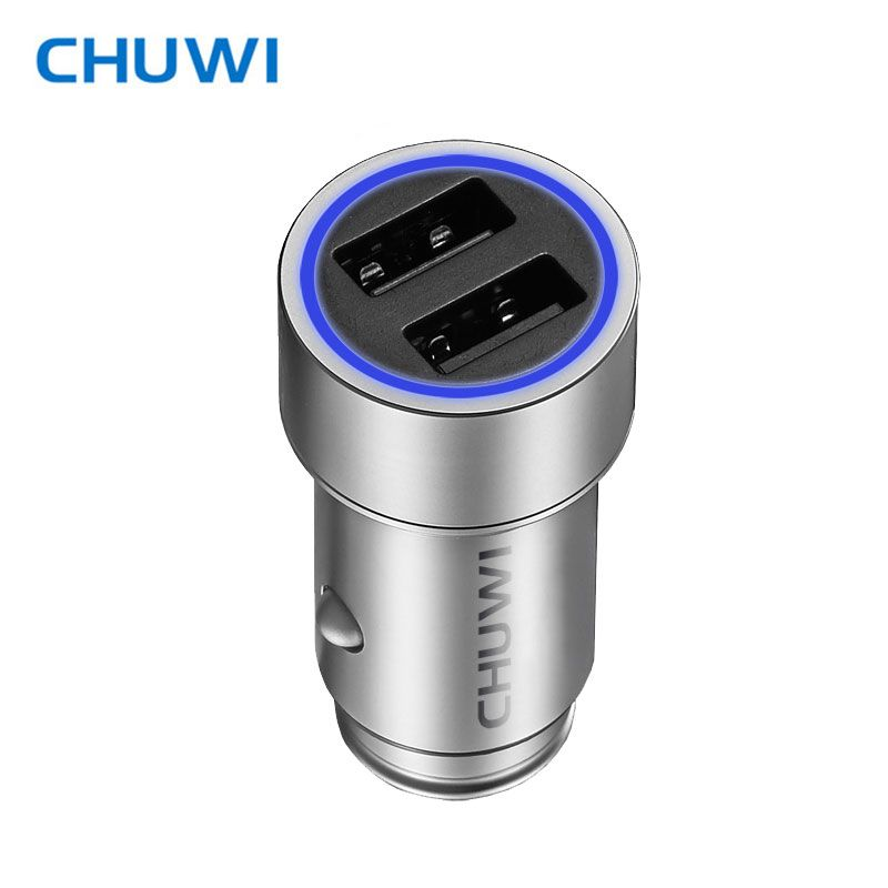 CHUWI Ublue C-100 CNC Portable Q Car Charger with Dual USB Ports Strong Compatibility with Mini-sized Design For Tablet PC Phone