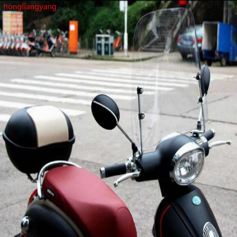 scooter windscreen deflector motorcycle windshield street glide windshield wind deflector wind shield 420*420*3MM
