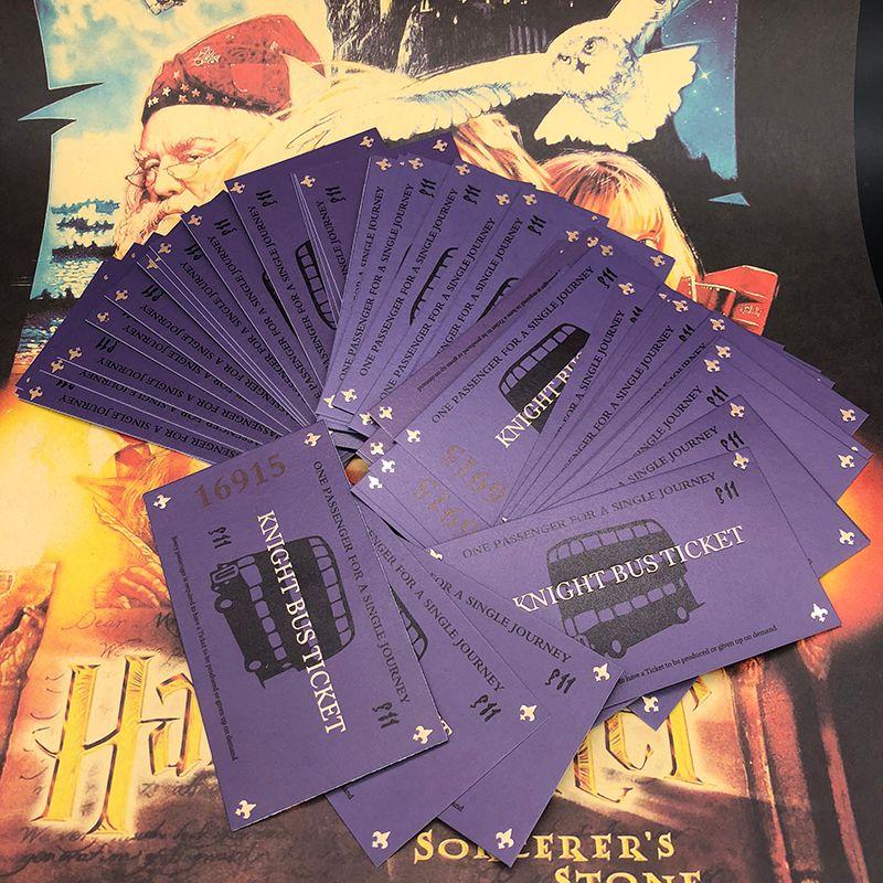 50PCS/100 Pcs Harri Potter Knight Bus Ticket 100% Screen (Movie) Accurate