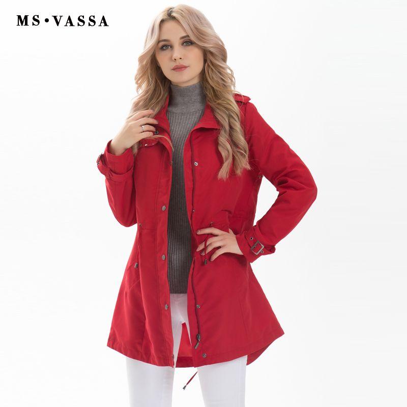 MS VASSA nouveau femmes mode Trench manteau dames long décontracté manteau grande taille 5XL 7XL col rabattu heureux taille rangée bouton frontière
