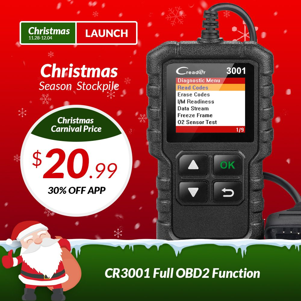 LAUNCH X431 Creader 3001 OBDII OBD2 Code Reader Support Full OBD 2 EOBD function CR3001 Auto Scanner PK AD310 NL100 ELM327