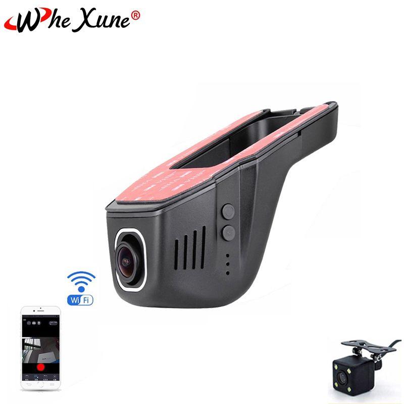 WHEXUNE Novatek 96658 WIFI voiture DVR Dash Cam Full HD 1080 P double lentille Vision nocturne enregistreur de conduite enregistrement vidéo caméra de tableau de bord