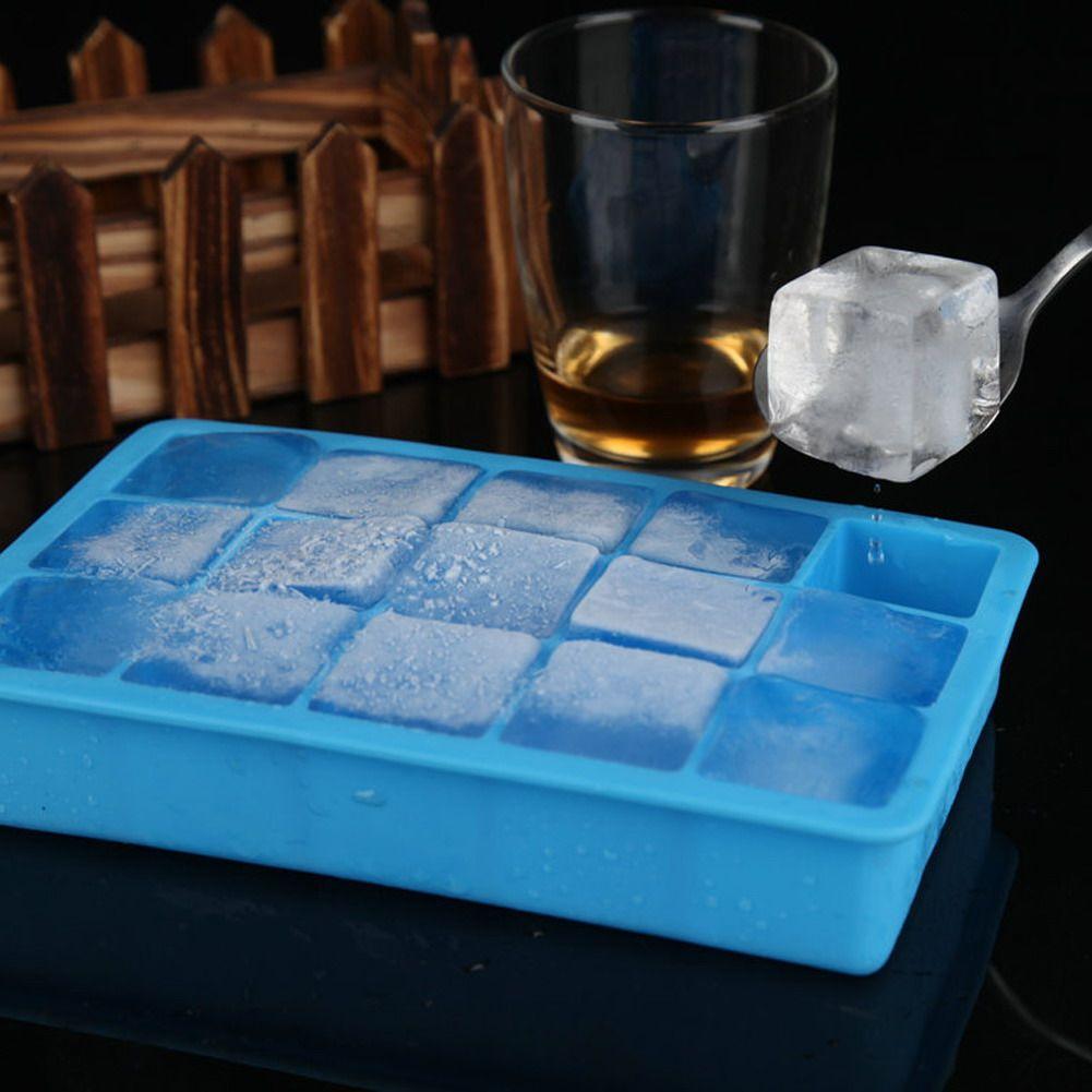 5 farben 15 Grids Silikon Eisform Platz Hohlraum Tray Mini Eis Mold Kleine Obst Mold Eismaschine für eis Schale, Die