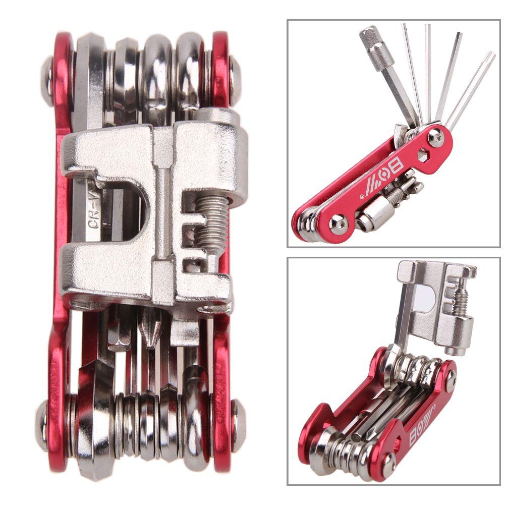 11 in 1 Tragbare Multifunktions Fahrrad Repair Tool Kit MTB Mountainbike Reparing Gadget Set Stahl Radfahren Multi Repair Tools