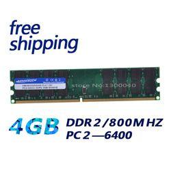 Kembona новые стационарного персонального компьютера DDR2 4 GB 4G DDR2 PC2-6400 800 МГц dimm память ram 240 булавки для A-M-D Системы motheroard