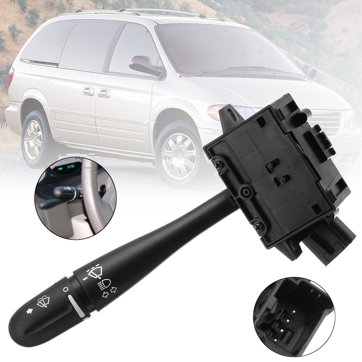 Steering Column Turn Signal Headlamp Switch Wiper Blade Unit For Dodge Grand Caravan Chrysler Voyager 2003 2004 2005 2006 2007