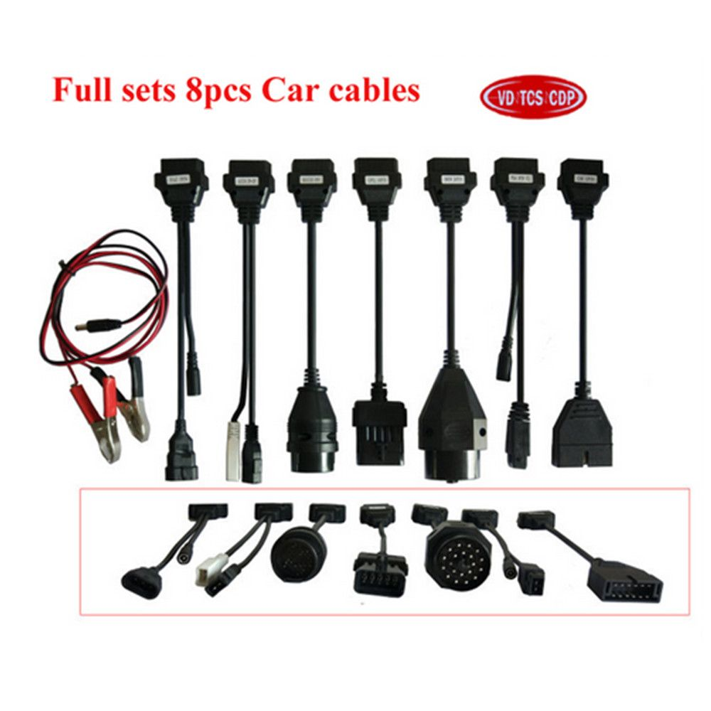 full 8 pcs per set car cable for delphis vd ds150e cdp pro plus and multidiag pro+ and WOW SNOOPER