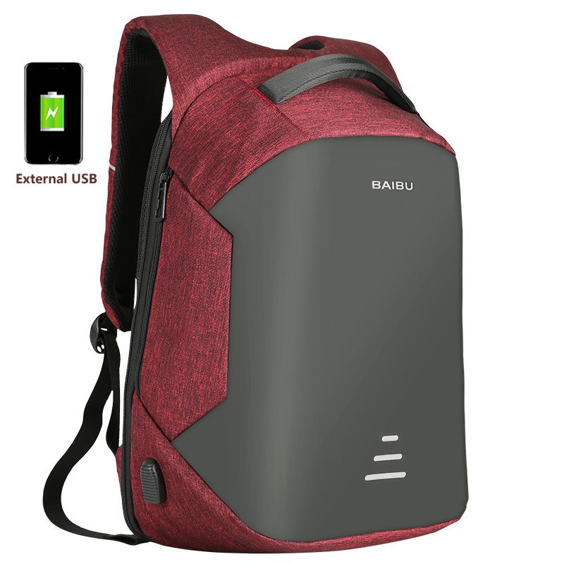 DAYGOS 15.6 Laptop Backpack Anti Theft Backpack With Usb Charging Men School Notebook Bag Oxford Waterproof Travel Backpack