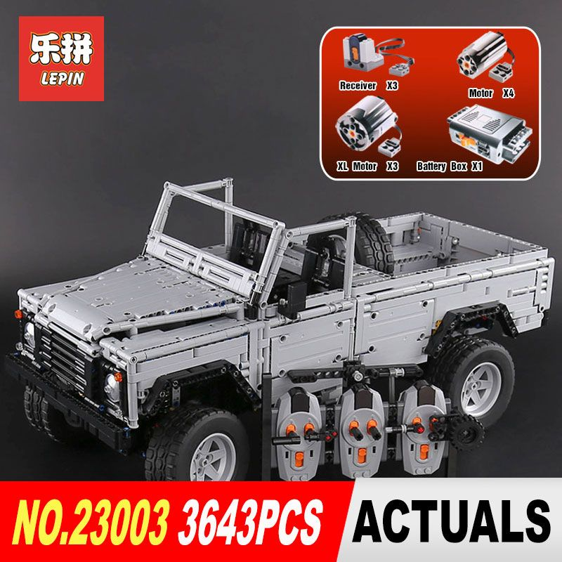Lepin 23003 3643Pcs Technic series Creative MOC RC Wild off-road vehicles model Building Blocks Bricks SUV toys for boys gifts