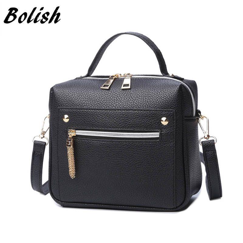 Bolish High Quality PU Leather Women handbag Small Women <font><b>Messenger</b></font> Bag Female Shoulder Bag Fashion Women Bags