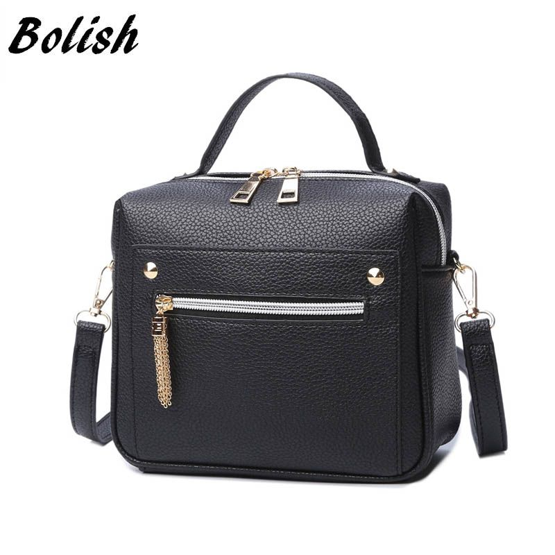 Bolish High <font><b>Quality</b></font> PU Leather Women handbag Small Women Messenger Bag Female Shoulder Bag Fashion Women Bags