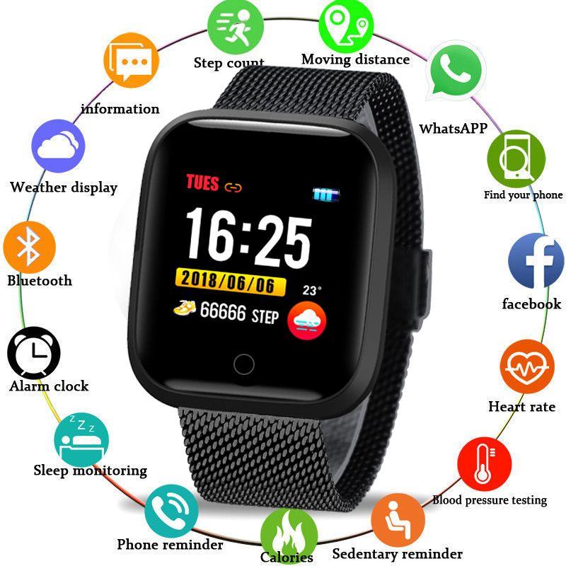 BANGWEI Smart Uhr Männer Frauen IP68 Schwimmen Wasserdichte Sport Uhr Multi-funktion sport timer elektronische Uhr für Android IOS