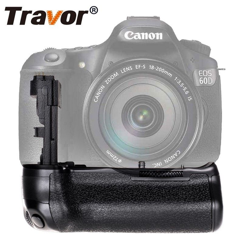 Travor vertical Battery <font><b>Grip</b></font> Holder for Canon 60D 60Da DSLR Camera Replacement BG-E9 work with LP-E6 battery