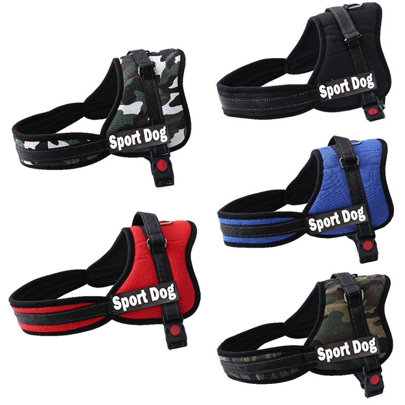 New Arrival Pet Dog Personalized Harness 5 Colors 5 Sizes Large Medium Small Dog Pet Name Harness Pet Vest Strap