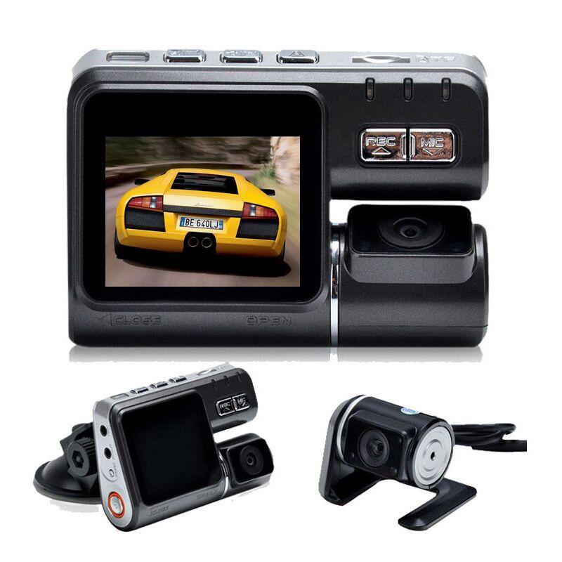 Boîte noire de voiture à double lentille XYCING I1000 DVR Allwinner A20 Dash Cam H.264 double caméra de vue arrière véhicule DVR caméscope de voiture