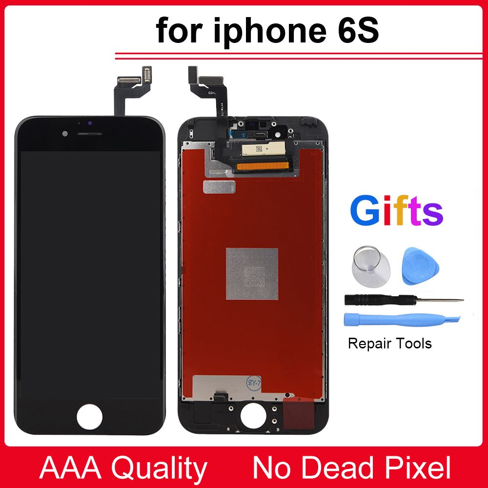 Black/White Quality LCD Screen for iPhone 6S 4.7 inch LCD Display With Touch Screen Digitizer Assembly Replacement Accessories