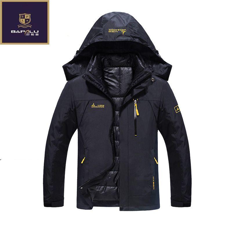 Новая зимняя куртка мужской/женский пуховик Водонепроницаемый ветрозащитная куртка для отдыха плюс плотный бархат теплая куртка пальто 4XL ...