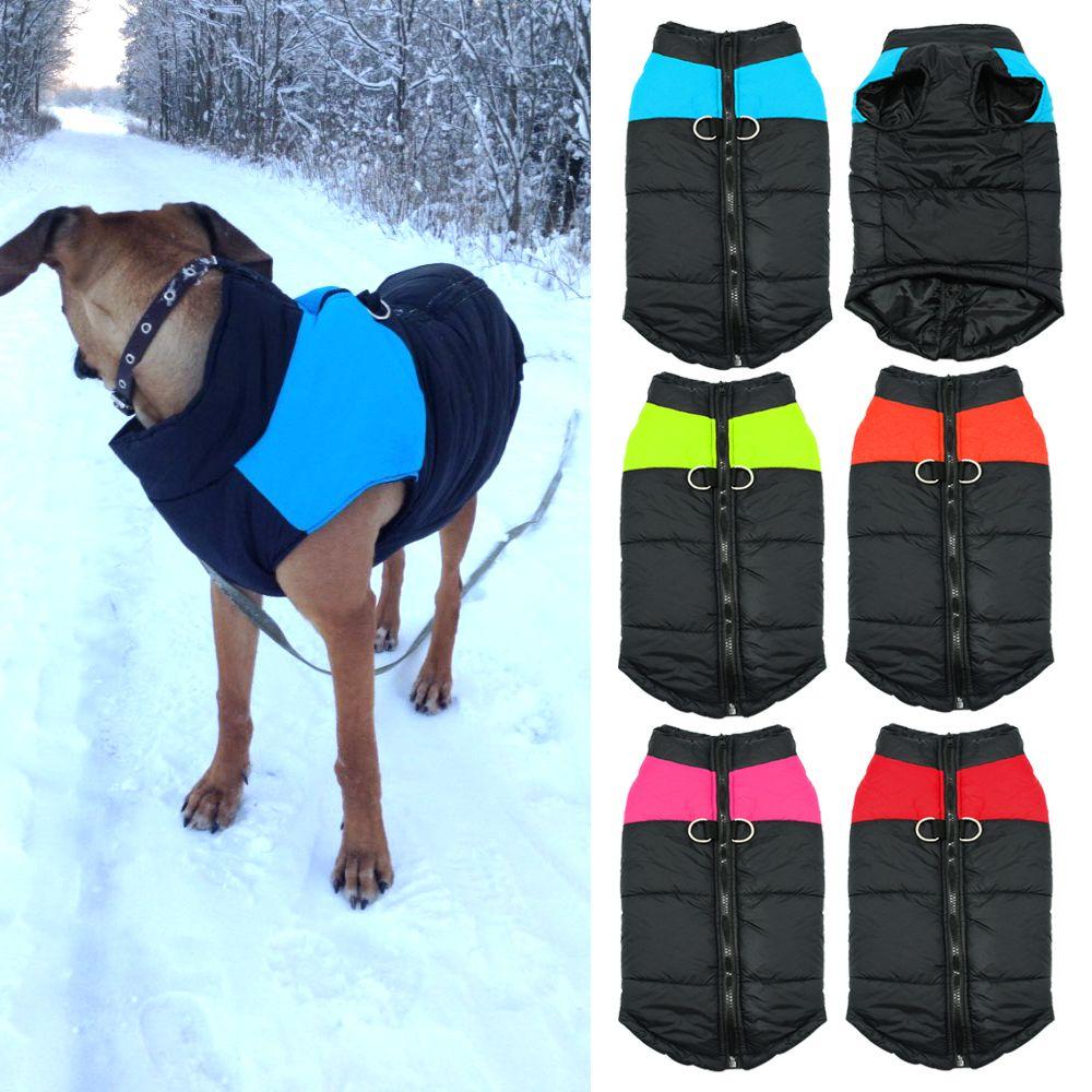 Imperméable à l'eau pour chien chiot gilet veste Chihuahua vêtements chaud hiver chien vêtements manteau pour petit moyen grands chiens 4 couleurs S-5XL