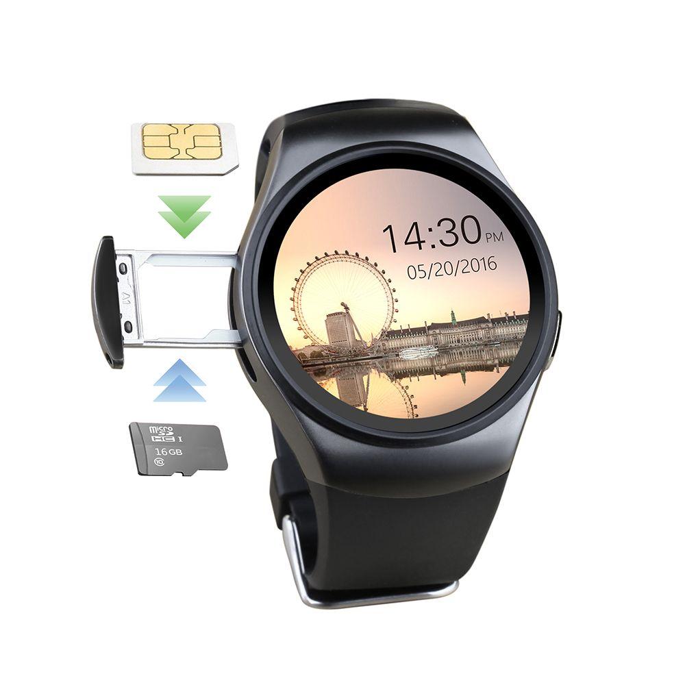 696 KW18 Bluetooth montre intelligente téléphone plein écran prise en charge SIM TF carte Smartwatch fréquence cardiaque pour apple IOS huawei Android PK KW88