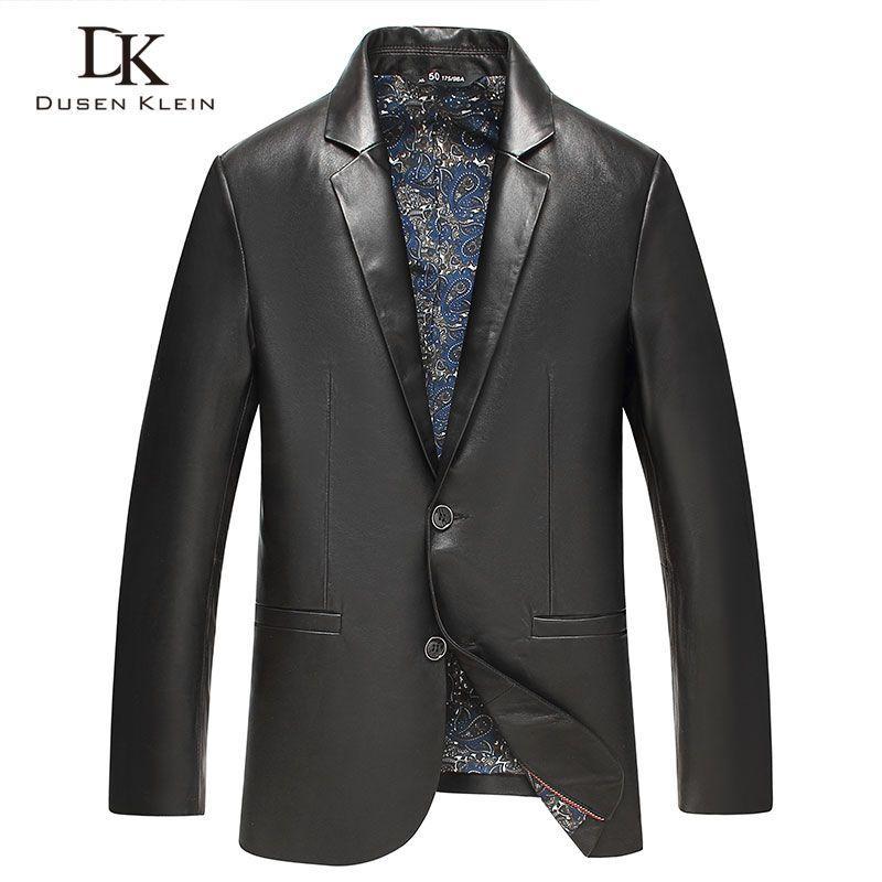 Men Genuine leather suit jackets Dusen Klein New arrivals 2017 Sheepskin leather coats Slim Fashion male leather jacket 71J7829