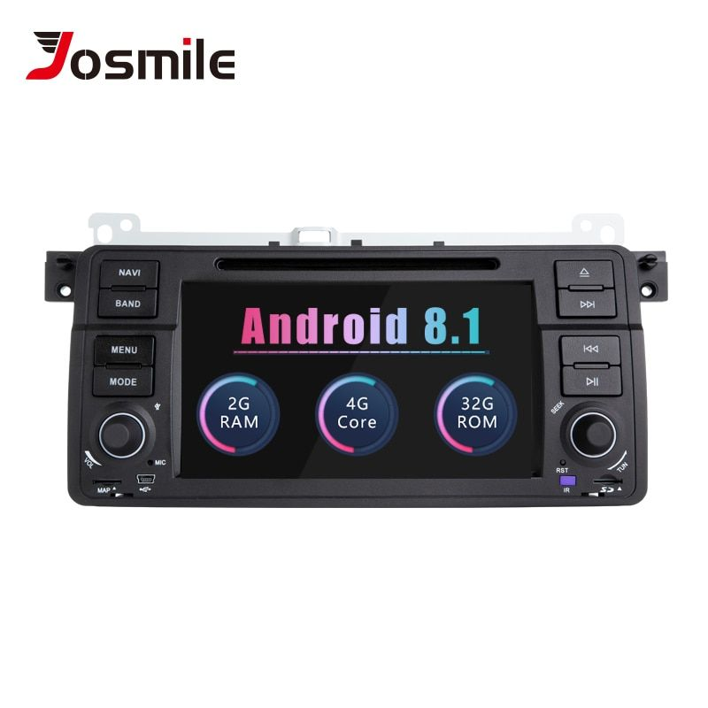 Josmile 1 Din Android 8.1 GPS Navigation Für BMW E46 M3 Rover 75 Coupe 318/320/325/330 /335 auto Radio Auto DVD Player Stereo Wifi