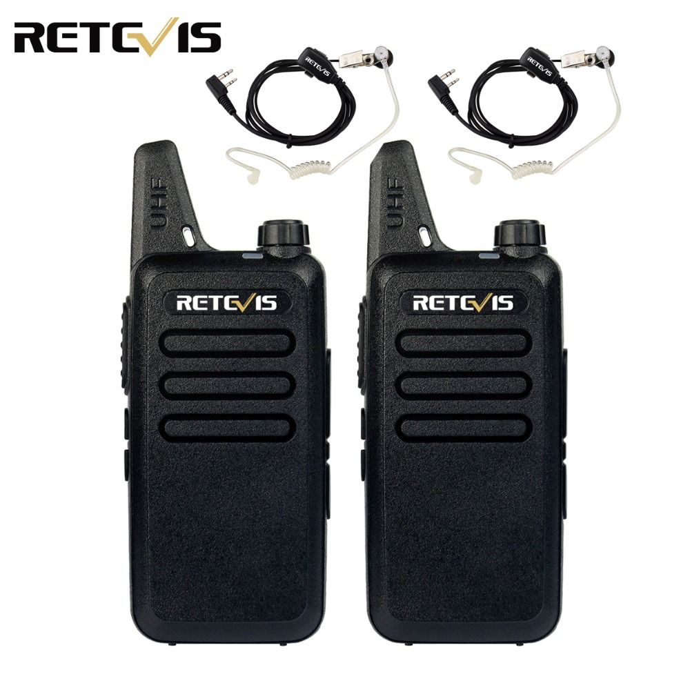 2pcs Mini Walkie Talkie Retevis RT22 2W UHF 400-480MHz CTCSS/DCS TOT VOX Scan Squelch Two Way Radio Ham Hf Transceiver A9121A