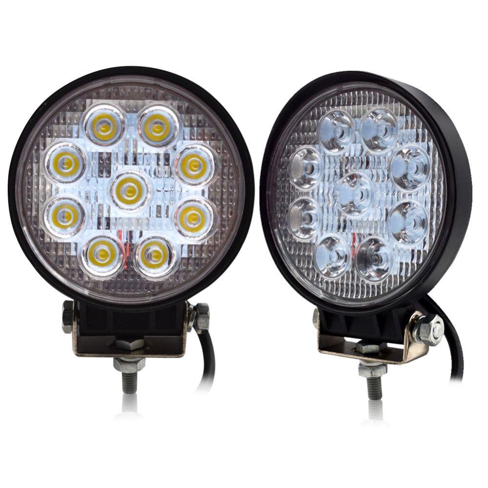 Safego 2 pcs 4 pouces 27 w led lumière de travail 12 v offroad 4x4 camions de voiture de tache d'inondation faisceau 24 v 27 w a mené des lumières fonctionnantes auto lampe de conduite de brouillard