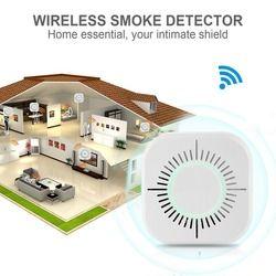 433 MHz كاشف لاسلكي عن الدخان مستقلة النار جهاز استشعار إنذار 360 درجة داخلي المنزل حديقة السلامة الأمن الدخان الانذار