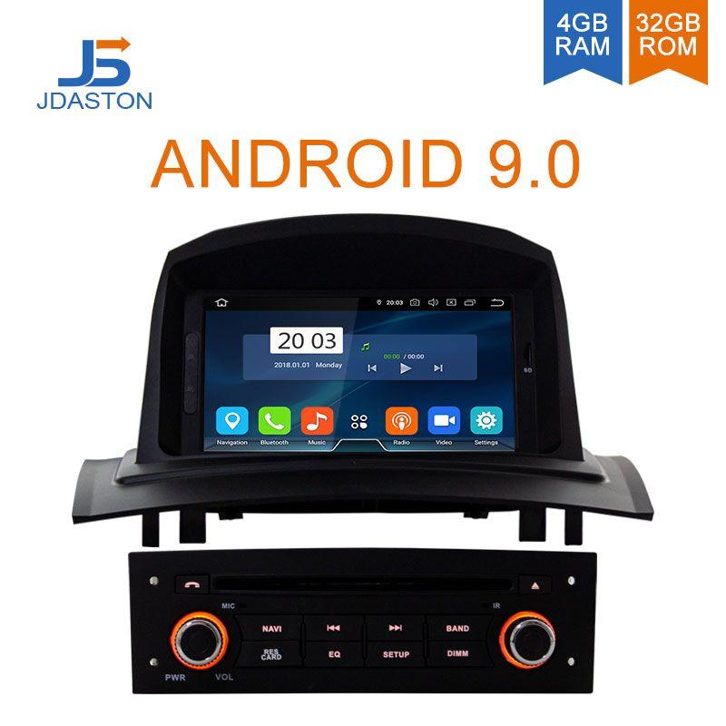 JDASTON Android 9.0 Auto DVD Player Für RENAULT Megane Fluence 2 2002-2008 Octa Cores 4G + 32G multimedia GPS Stereo WIFI Radio RDS