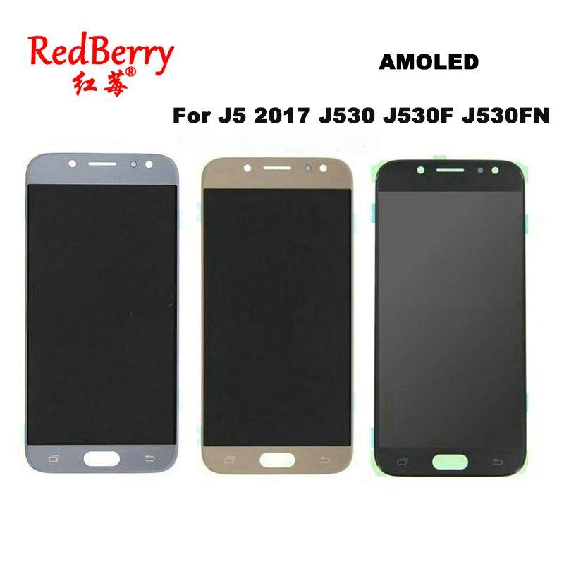 AMOLED LCDs Für SAMSUNG GALAXY J5 2017 J530 J530F J530FN SM-J530F Display Touchscreen Digitizer Assembly Ersatz LCD Hellen