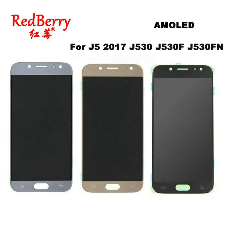 AMOLED LCDs For SAMSUNG GALAXY J5 2017 J530 J530F J530FN SM-J530F Display Touch Screen Digitizer Assembly Replacement LCD Bright